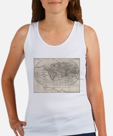 Vintage Map of The World (1621) Tank Top