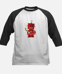 Red toy robot waving hello Baseball Jersey