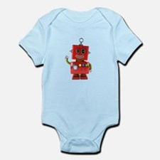 Red toy robot waving hello Body Suit