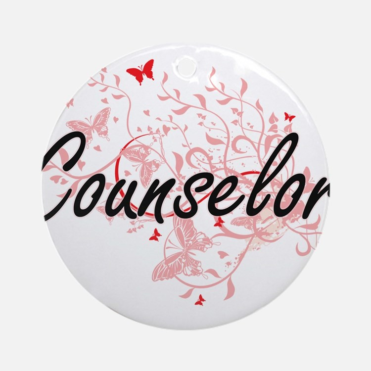 Counselor Artistic Job Design with Round Ornament