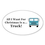 Christmas Truck Sticker (Oval 10 pk)
