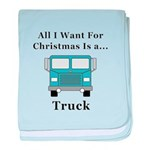 Christmas Truck baby blanket