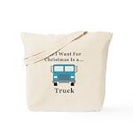 Christmas Truck Tote Bag