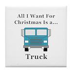 Christmas Truck Tile Coaster