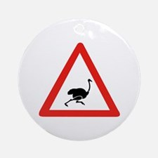Caution Ostriches, Namibia Ornament (Round)