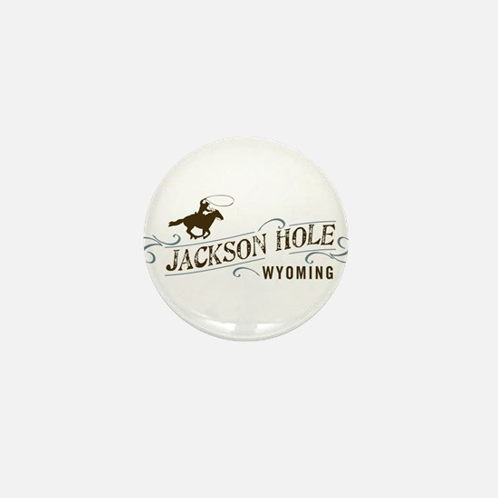 Jackson Hole Cowboy Mini Button (100 pack)