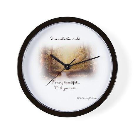 You make the world Wall Clock