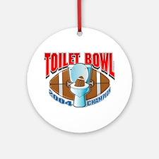 Fantasy Football Toilet Bowl Ornament (Round)