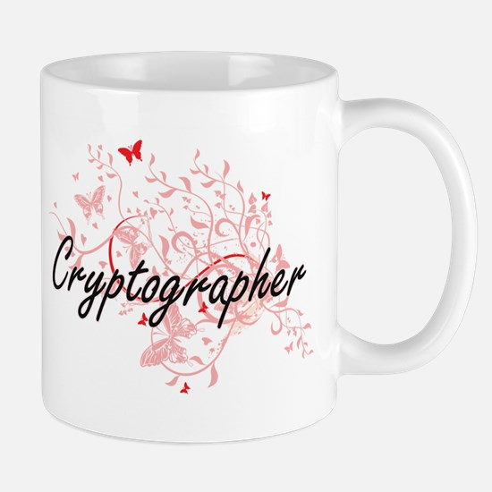 Cryptographer Artistic Job Design with Butter Mugs