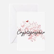 Cryptographer Artistic Job Design w Greeting Cards