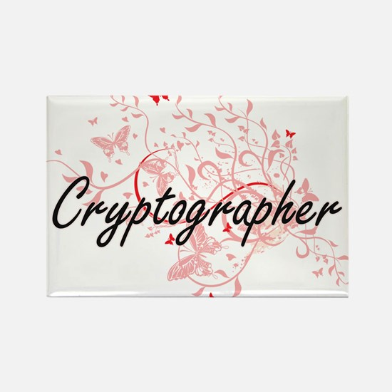 Cryptographer Artistic Job Design with But Magnets