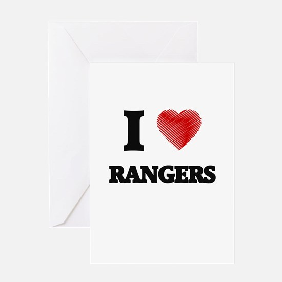 I Love Rangers Greeting Cards