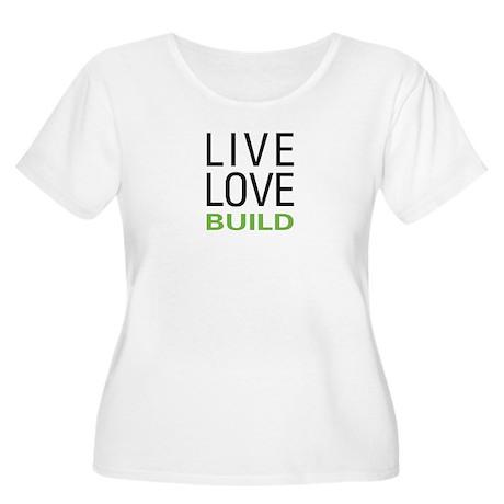 Live Love Bui Women's Plus Size Scoop Neck T-Shirt