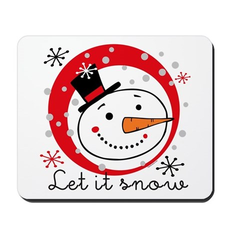 Let It Snowman Mousepad