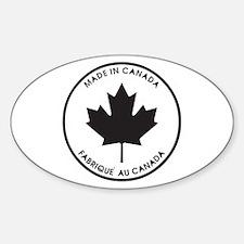 Made in Canada Oval Bumper Stickers