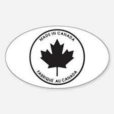 Made in Canada Oval Decal