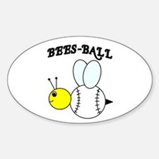 BEES-BALL Oval Decal