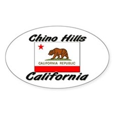 Chino Hills California Oval Decal