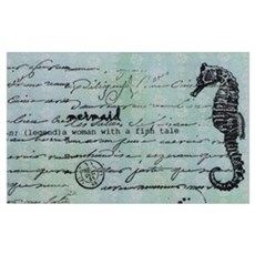 Mermaid Dictionary Print Canvas Art