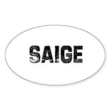 Saige Oval Decal