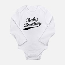 Baby Brother (Black Text) Body Suit