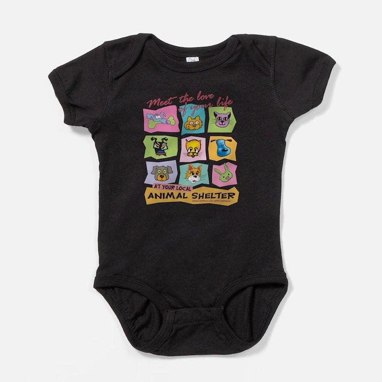 Cute Animal shelter Baby Bodysuit