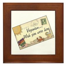 Vegan Postcard Framed Tile