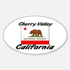 Cherry Valley California Oval Decal