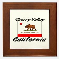 Cherry Valley California Framed Tile