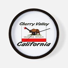 Cherry Valley California Wall Clock