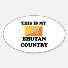 This Is My Bhutan Country Sticker (Oval)