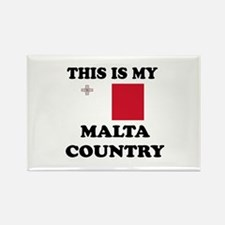 This Is My Malta Country Rectangle Magnet