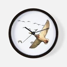 Mallard ducks Canadian geese Wall Clock