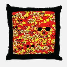 Pattern Skull Design Throw Pillow