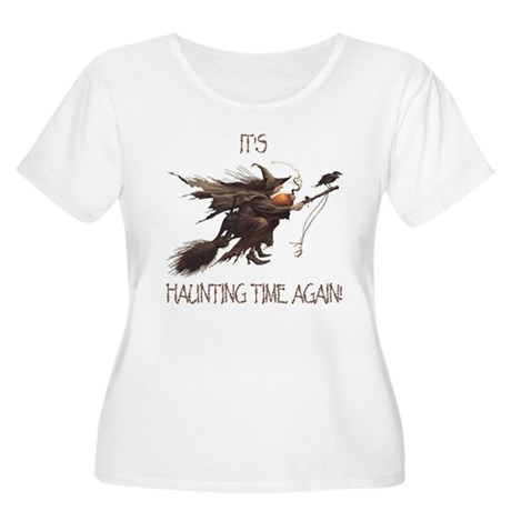 Witch haunting time Women's Plus Size Scoop Neck T