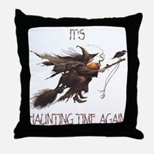 Witch haunting time Throw Pillow