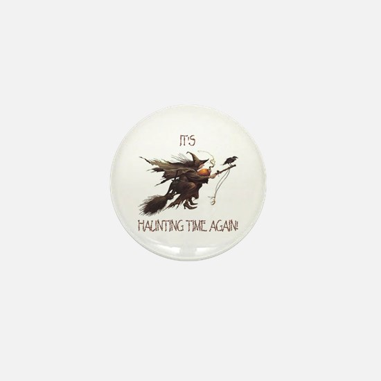 Witch haunting time Mini Button