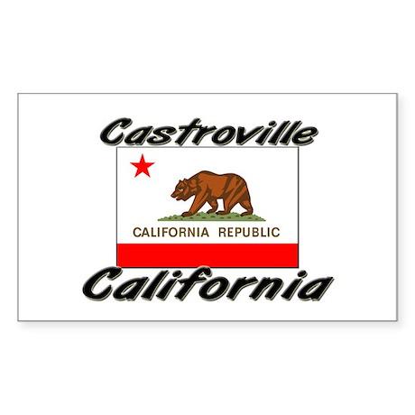 Castroville California Rectangle Sticker