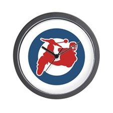 Brit Scooter Wall Clock