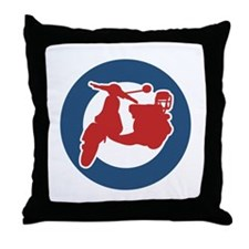 Brit Scooter Throw Pillow