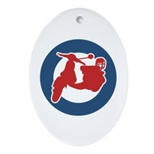 Brit Scooter Oval Ornament