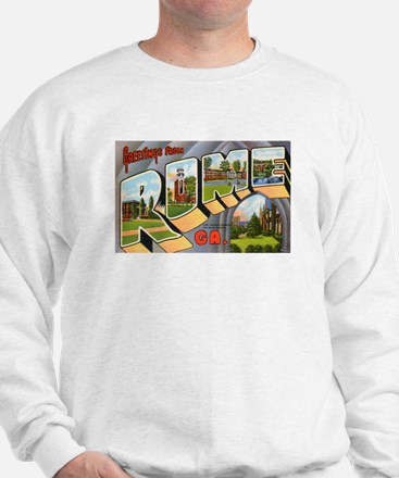 Rome Georgia Greetings (Front) Sweatshirt