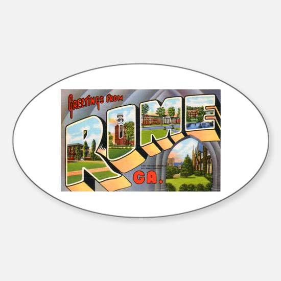 Rome Georgia Greetings Oval Decal