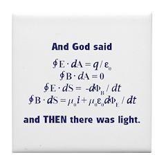 And God Said Tile Coaster