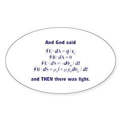 And God Said Oval Sticker