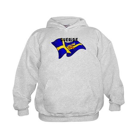 Swedish Moose Flag Kids Hoodie
