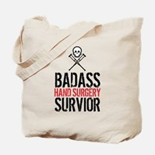 Badass Hand Surgery Survivor Tote Bag