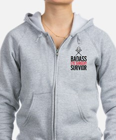 Badass Eye Surgery Survivor Zip Hoodie