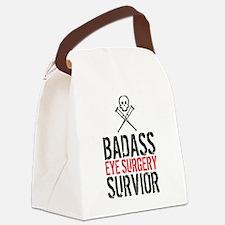 Badass Eye Surgery Survivor Canvas Lunch Bag