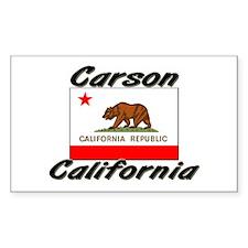 Carson California Rectangle Decal